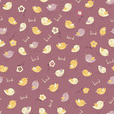 Amazing cute seamless vintage colorful bird pattern Stock Photo