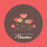 Amazing cute seamless vintage colorful floral Stock Image