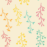 Amazing cute seamless vintage colorful floral pattern Royalty Free Stock Photography