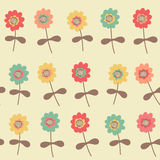 Amazing cute seamless vintage colorful floral pattern Stock Photo