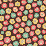 Amazing cute seamless vintage colorful floral pattern Stock Image