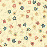 Amazing cute seamless vintage colorful floral pattern Stock Photography