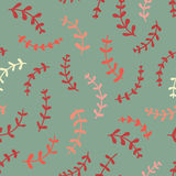 Amazing cute seamless vintage colorful plant pattern Royalty Free Stock Photo