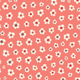 Amazing cute seamless vintage red colorful floral pattern Stock Photography