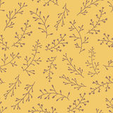 Amazing cute seamless vintage yellow floral pattern Stock Photos