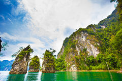 Amazing Dam and island in Thailand Royalty Free Stock Images