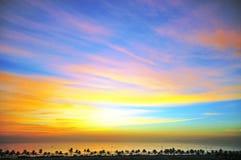 Amazing daybreak. On seaside, Da Nang, Vietnam stock photography