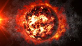 Amazing Dead Planet. 3D rendered Amazing Dead Planet in unreal environment Royalty Free Stock Images