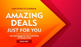 Amazing deals sale offer banner Royalty Free Stock Photos