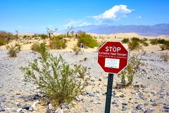 Amazing Death Valley National Park desert in California, USA royalty free stock images