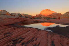 Amazing desert reflection. Royalty Free Stock Photos