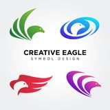 Eagle Head Symbol Collections stock illustration