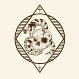 Python Romance Skull vector illustrations stock illustration
