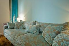 Amazing designer sofa. Amazing luxury designer sofa with flower motif Royalty Free Stock Image