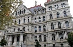 Amazing detail of The State Capitol,Albany,New York,2015 Royalty Free Stock Photo