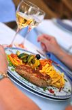 Amazing dinner in  reasaurant Stock Image