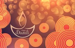 Amazing diwali festival background with bokeh effect and decorat. Ion Royalty Free Stock Photo