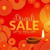 Amazing diwali sale festival voucher background Royalty Free Stock Photos