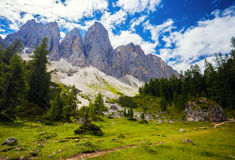 Amazing Dolomite Mountains Stock Photo