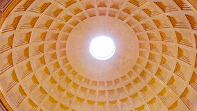 The amazing dome of the Pantheon in Rome stock images