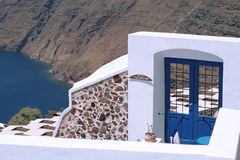 Amazing reception door in Santorini Royalty Free Stock Photo