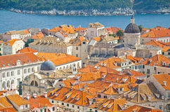 Amazing Dubrovnik Defensive Wall Royalty Free Stock Images