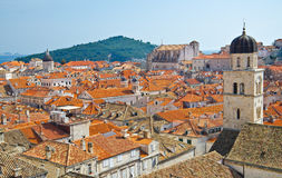 Amazing Dubrovnik Defensive Wall Royalty Free Stock Photography