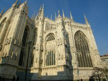 Amazing Duomo gothic cathedral Milan Italy Stock Photography
