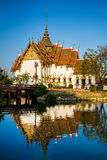 Amazing Dusit Maha Prasat Palace The Grand Palace, Bangkok, Thailand. Amazing view of beautiful Dusit Maha Prasat Palace The Grand Palace with reflection in the Royalty Free Stock Photos