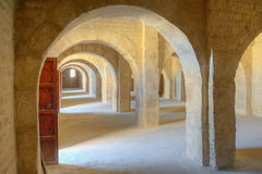 Amazing empty room in Sousse Ribat Stock Images