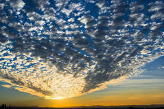 Amazing evening sunset cloudy sky with cloud dome Royalty Free Stock Image
