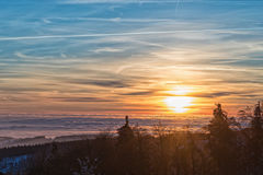 Amazing evening with sunset in Eagle mountains Stock Photo