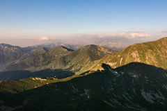 Amazing evening on top of the summer mountains Stock Photography