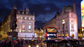 Amazing evening view of London Piccadilly Circus - LONDON, ENGLAND - DECEMBER 10, 2019