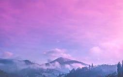 Amazing evening winter landscape Royalty Free Stock Photography