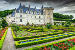 Amazing famous castle of Villandry, Loire Valley, France, Europe Stock Photography