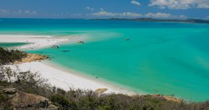 Amazing Whitehaven Beach in the Whitsunday Islands, Queensland, Australia stock video