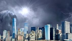 Amazing Fantasy City Animation, Fantasy New York City Animation. Apocalypse of New York