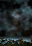Amazing Fantasy planetscape Stock Images