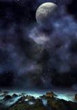 Amazing Fantasy planetscape stock photo