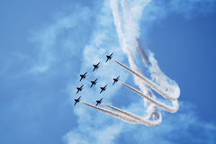 Airplanes on airshow Royalty Free Stock Images