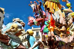 Failles in Valencia, Spain. Amazing figures celebrating the Spring Festival Failles in Valencia, Spain Stock Photography