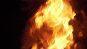 Big Amazing Fire Flames. Amazing Fire Flames During Night stock footage
