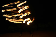 Amazing Fire Show Royalty Free Stock Photography