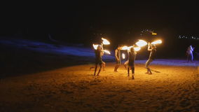Amazing Fire Show at night Royalty Free Stock Photography