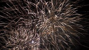 Amazing firework pyrotechnic show stock video