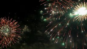 Amazing firework pyrotechnic show stock footage