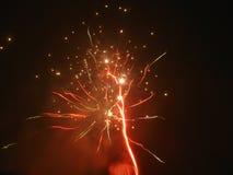 Amazing fireworks. Beautiful fireworks in the dark night Stock Photo