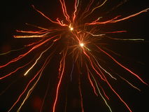 Amazing fireworks. Beautiful fireworks in the dark night Royalty Free Stock Image