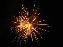 Amazing fireworks. Beautiful fireworks in the dark night Stock Image